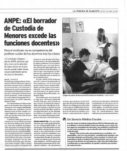 3-4-2014 La Tribuna Protocolo Custodia Menosres