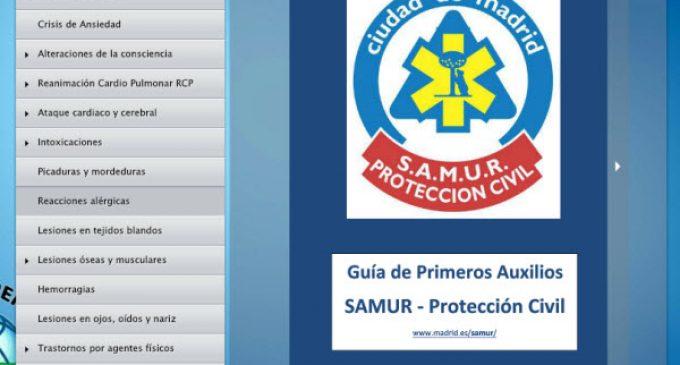 Guía de Primeros Auxilios del SAMUR publicada por ANPE Albacete Castilla – La Mancha