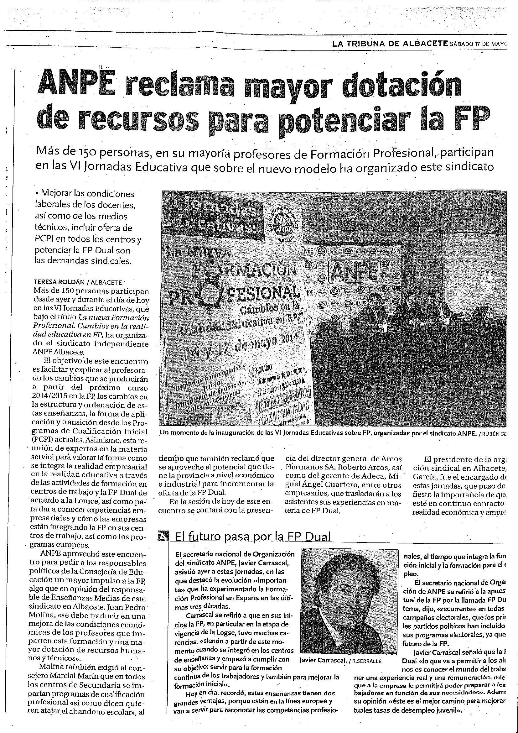 anpe albacete sindicato educación formación fp