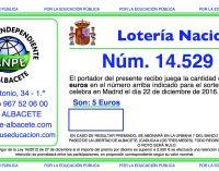 LOTERÍA DE NAVIDAD ANPE ALBACETE: 14.529
